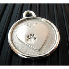 Pet Lover Paradise | Stainless Steel Silver Heart Pet ID Tag Pet Lover Paradise| Hand made unique gifts for horse enthusiasts, dog enthusiasts and cat enthusiasts
