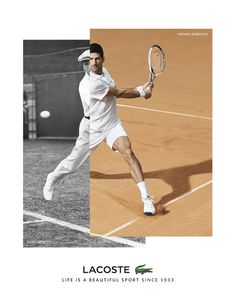 4e3f9ec7da63 Tennis player Novak Djokovic steps into a new role as the face of Lacoste.  The French brand shows a passing of the torch from René Lacoste to Djokovic  with ...