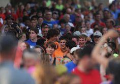 Athletics gather to walk into the Iowa Games opening ceremony on Friday, July 15, 2016, at Jack Trice Stadium in Ames. Photo by Nirmalendu Majumdar/Ames Tribune