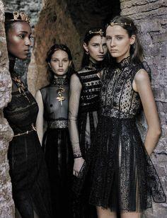 Valentino Haute-Couture FW 2015-2016, the editorials in Vogue Italia Sept 2015