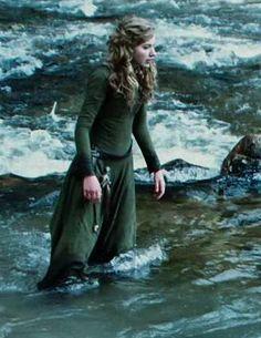 Leda in river.