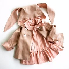 Baby bunny trench coat and doll dress