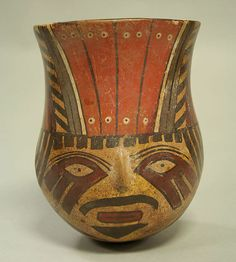 Head Jar. Peru, Nasca, 1st-6th century.