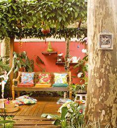 Chita na decoração - varanda