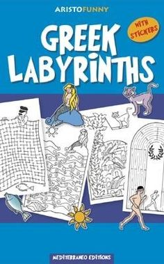 Greek labyrints, activities book, greek culture, visit greece, mythology, mediterraneo editions, www.mediterraneo.gr