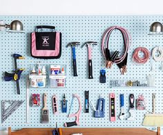 swooning over pegboard - how sad is that? garage organizing