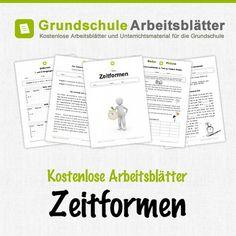 Kostenlose Arbeitsblätter und Unterrichtsmaterial für den Deutsch-Unterricht zum Thema Zeitformen in der Grundschule.