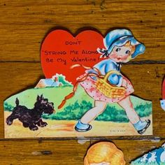 Vintage Valentine's can be given to a loved one for Valentine's Day, displayed in a metal flower frog, or clipped to something to add love to your home decor. Bundles of similar styles or topics have been created. See the pictures for more details. 4 3/8 × 3 3/8 in. Vintage Valentines, Be My Valentine, Flower Frog, Antiques For Sale, Antique Decor, Metal Flowers, Valentine Decorations, Smurfs, Vintage Items