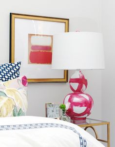 These hand poured & hand painted brushstroke lamps are made entirely in the US by Bek Design.