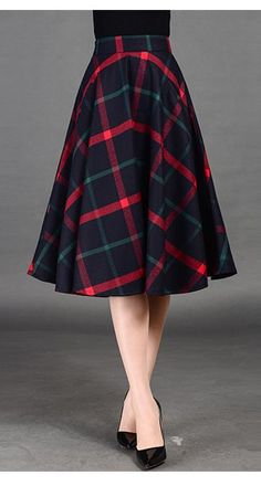 b38c383a1 Navy Blue Plaid Midi Skirt Modest Outfits, Blue Skirt Outfits, Modest Skirts,  Cute