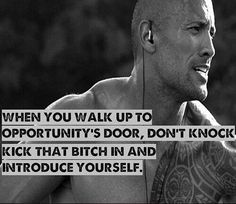 Strong and power motivation from Dwayne Johnson Motivacional Quotes, Great Quotes, Quotes To Live By, Funny Quotes, Inspirational Quotes, Qoutes, Trill Quotes, Rock Quotes, Motivational Monday