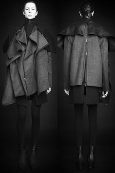 mixed media + layered jacket--rad hourani, unisex transformable collection #7