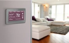 Adjust the temperature of your home with the Honeywell smart thermostat.  #CraveIt #technology #house