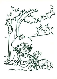 Charlotte with strawberry coloring page 8
