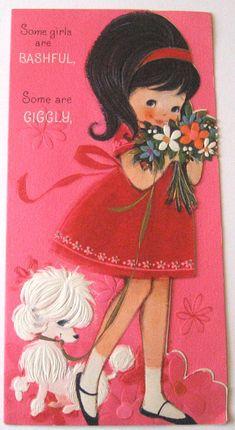 Hallmark Vintage Birthday Card Some Girls Are by starmango. $5.00, via Etsy.