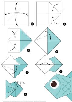 How To Make An Origami Fish Pictures Origami Fish Instructions Step How To Make A Blow. How To Make An Origami Fish Step Step Instructions For Making An Origami Fish. How To Make An Origami Fish Fish Diy Origami Tutorial… Continue Reading → Origami Fish Easy, Instruções Origami, Origami Paper Folding, Origami Ball, Origami Butterfly, Paper Crafts Origami, Useful Origami, Paper Crafting, Origami Tree