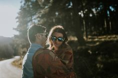 Love session in the woods