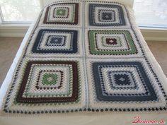 Giant granny square / Giant granny square free crochet pattern