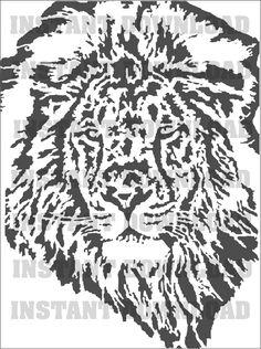 Lion Silhouette Digital Graphics SVG Cutting Files by DesignTipTop