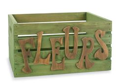 Personalized flower crates. I'm going to make these for my flowers!!