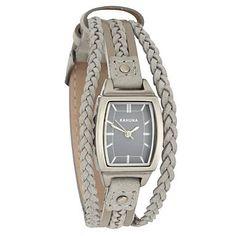 Women's grey plaited strap watch - Strap - Watches - Women -