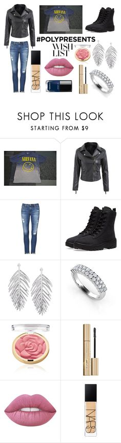 """""""#PolyPresents: Nirvana Wish List"""" by stoptosmelltheroses on Polyvore featuring AG Adriano Goldschmied, Yeezy by Kanye West, Stila, NARS Cosmetics, Chanel, contestentry and polyPresents"""