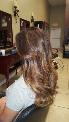Balayage on dark brown hair Hair Spa, Brown Hair, Dark Brown, Long Hair Styles, Beauty, Brown Scene Hair, Long Hairstyle, Long Haircuts, Chestnut Hair Colors