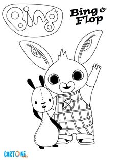 Disegni da colorare Bing con tutti i personaggi del cartone a. Bing coloring pages with all the characters of the cartoon aired on Rai Yoyo and aimed at preschool chi Disney Coloring Pages, Colouring Pages, Free Coloring, Coloring Sheets, Coloring Books, Bing Hase, Bing Bunny, Bunny Drawing, Frog Crafts