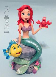 Ariel the little mermaid cake topper by Davide Minetti