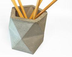 Geometrische konkrete Stifthalter / / Bleistift Cup / /