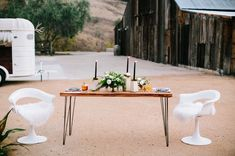 Barn Wedding and vintage trailer Horse Trailer Bar by Tinker Tin Trailer Co.