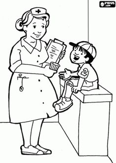Nursing Coloring Books Beautiful Nurse Coloring Pages Work School Baby Coloring Pages, Cartoon Coloring Pages, Coloring Pages For Kids, Coloring Sheets, Coloring Books, Kids Coloring, Colouring, Community Helpers Preschool, Anatomy Coloring Book