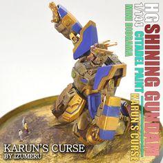 HG 1/144 SCALE SHINING GUNDAM MINI DIORAMA - KARUN'S CURSE- BY IZUMERU! | Izumeru Plamodelkit