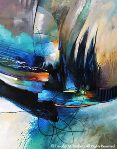 Abstract Contemoporary Painting - Artist Tim Parker