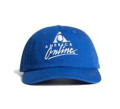 AOL Logo Embroidered Royal Blue Cap