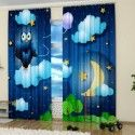 digital print curtains, kids decor accessories