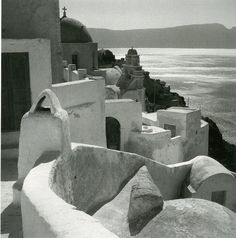 Oia Santorini island, Photograph by Voula Papaioannou Benaki Museum - Photographic Archives Santorini Island, Santorini Greece, Mykonos, Benaki Museum, Dry Plants, Crete, Greek Islands, Athens, Old Photos
