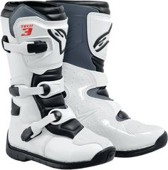 Alpinestars Tech 3S Youth MX Boots White 3