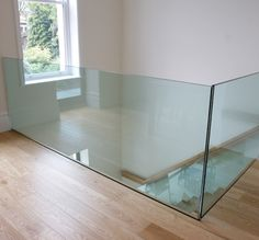 Glass balustrade to light the way