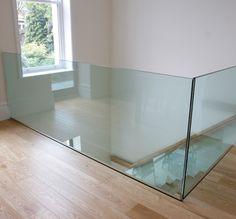 Glass balustrade to light the way