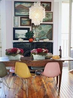 i need to find those pink, yellow and gray eames chairs!