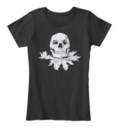 Autumn Skull Shirt And Hoodie Black T-Shirt Front
