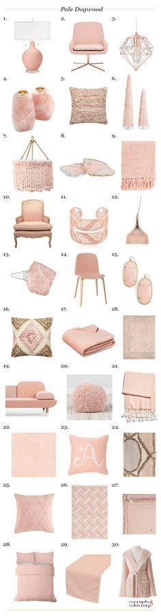 pantone pale dogwood interior design product roundup, pink