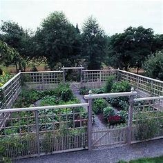 Deer-proof vegetable garden