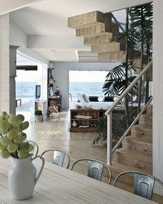 contemporary More beach house inspiration… Home Interior Design, Interior Architecture, Interior Livingroom, Kitchen Interior, Interior Ideas, Dream Beach Houses, Coastal Living Rooms, Coastal Bedrooms, Beach House Decor