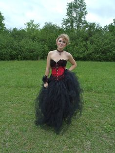 Steampunk Burlesque Gothic Wedding or Prom Dress by UglyPuppys, $195.00