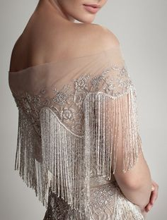 Great Gatsby inspired wedding gown