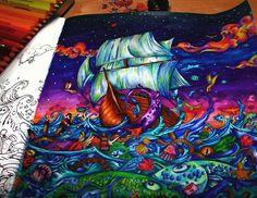 WEBSTA @ bilhimd - awww finally over!   (with pencil)#paiting #coloring #coloringbook #kerbyrosanes #imagimorphia