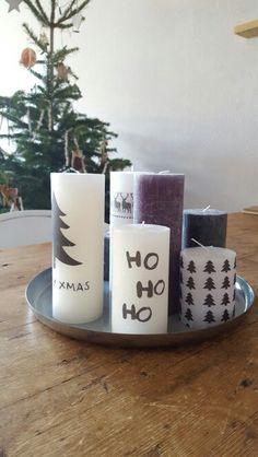 Kerst kaarsen zelf bedrukken
