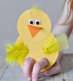 Easter craft finger puppets